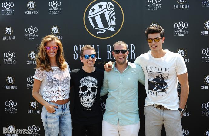 Jorge Lorenzo presenta Skull Rider en la 080 Barcelona Fashion