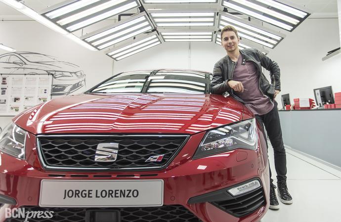Jorge Lorenzo, empleado de SEAT por un día