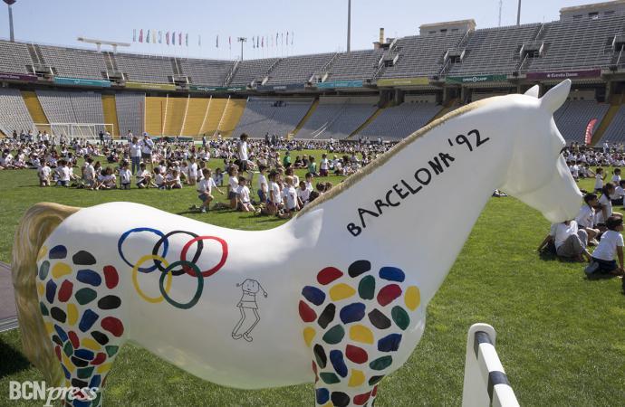 Homenajean a los Juegos Olímpicos con la acción de  #BCNalgalop