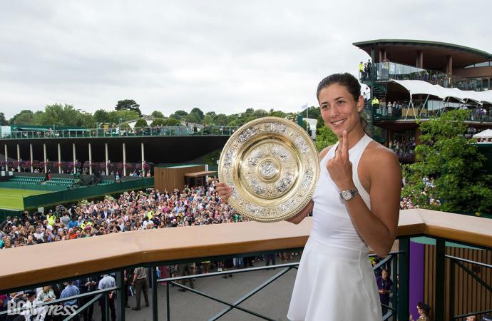 La reina de la pista de Wimbledon