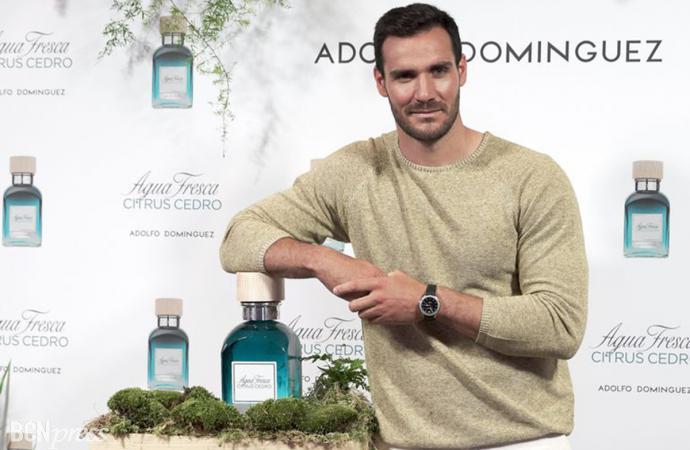 Saúl Craviotto, embajador de Agua Fresca Citrus Cedro de Adolfo Domínguez